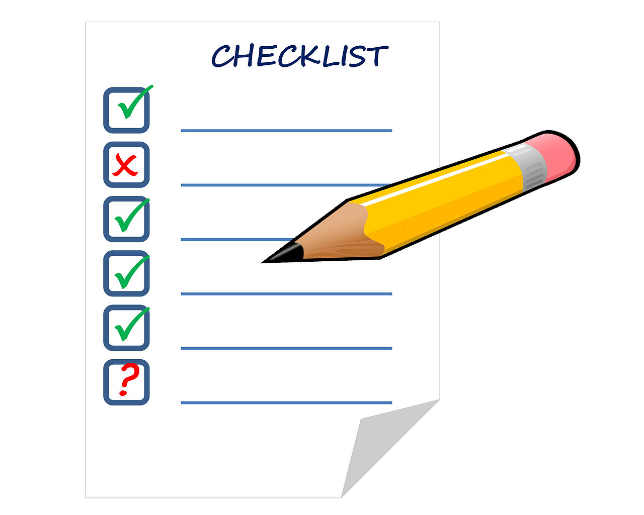 checklist, list, check